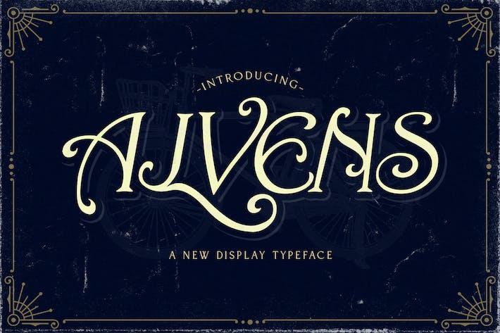Cover Image For Alvens - Fuente de pantalla elegante