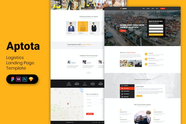Thumbnail for Logistics - Landing Page Template