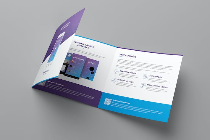 Thumbnail for Brochure – Mobile Apps Tri-Fold Square