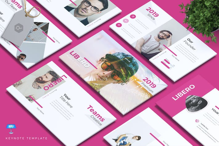 Thumbnail for LIBERO - Company Profile Keynote Template