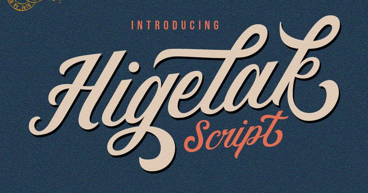 Download Higelak Retro Font by vultype