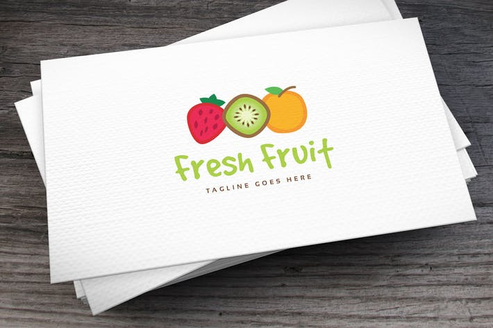 Thumbnail for Fresh Fruit Logo Template