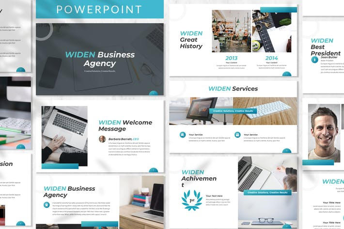 Thumbnail for Widen - Business Powerpoint Template