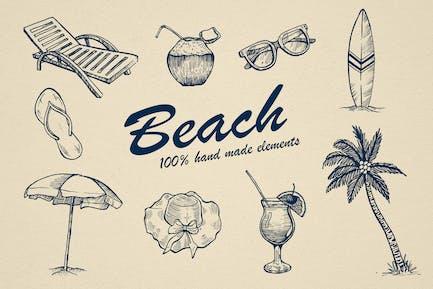 Beach Hand drawn Elements