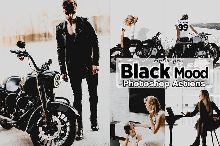 Thumbnail for Black Mood Photoshop Actions
