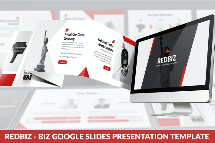 Thumbnail for Redbiz - Biz Google Slides Presentation Template