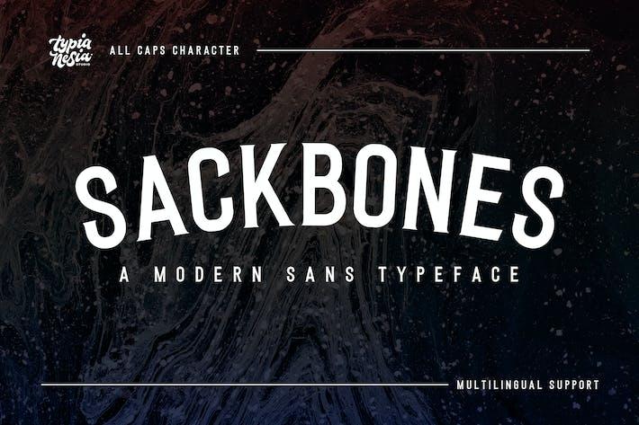 Thumbnail for Sackbones Sport Font