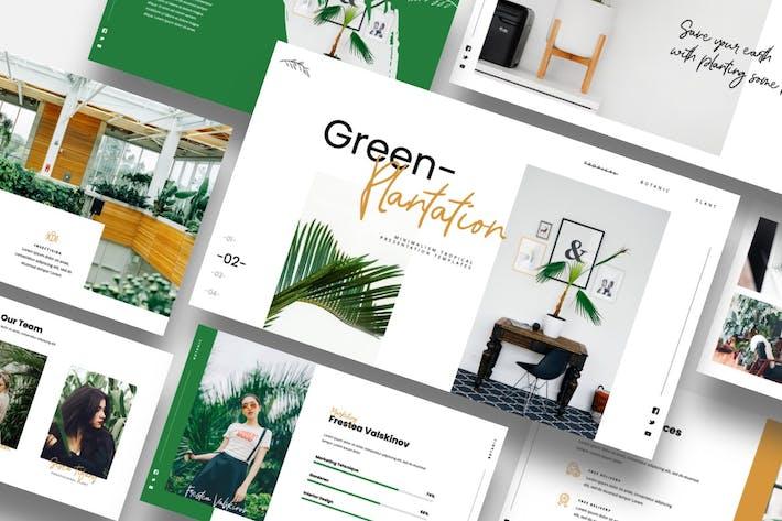 Зеленая плантация - Ботанический Шаблон Keynote