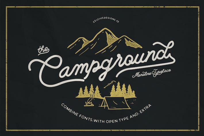Thumbnail for Campground 2 Fonts