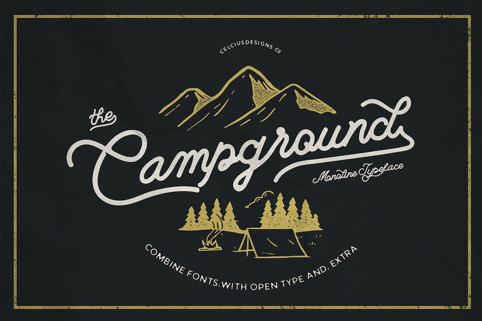 Download Campground 2 Fonts by celciusdesigns