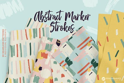Abstract Marker Strokes Patterns