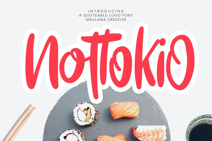 Fuente del Logo de Nottokio