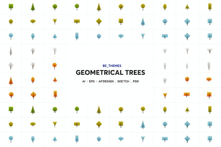 Thumbnail for Geometrical Trees Icon Template