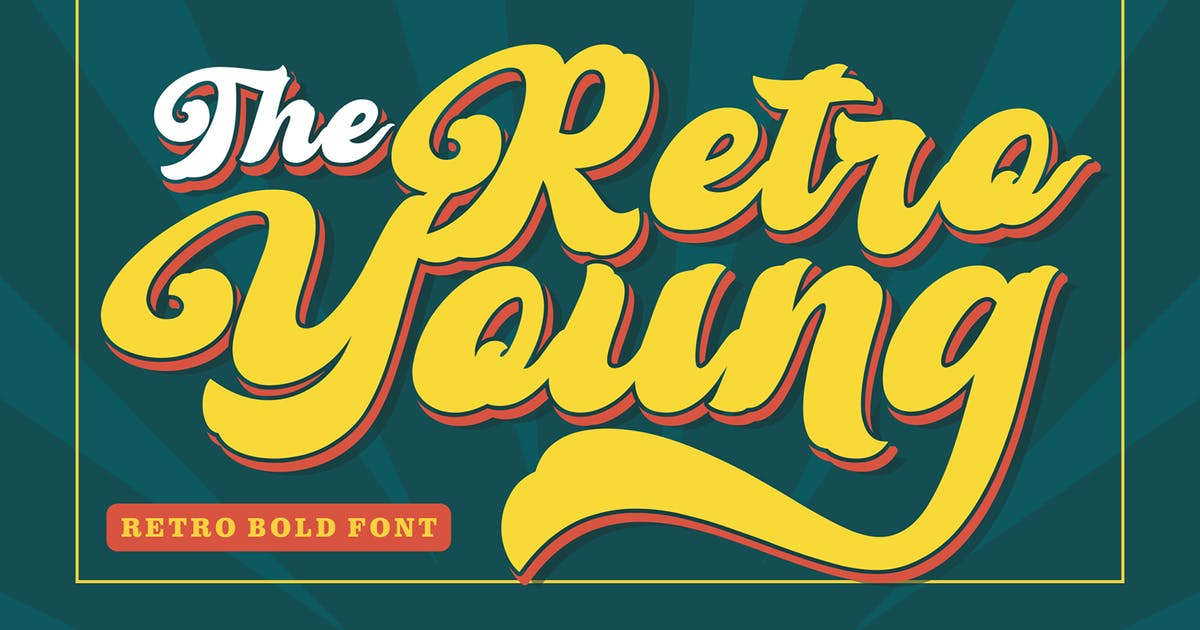 Download Retro Young - Vintage Bold Font by figuree