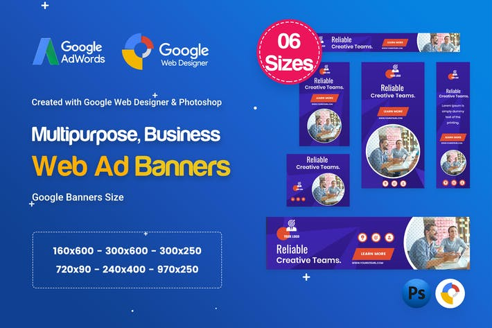 Thumbnail for Multi-Purpose Banners HTML5 D54 - GWD & PSD