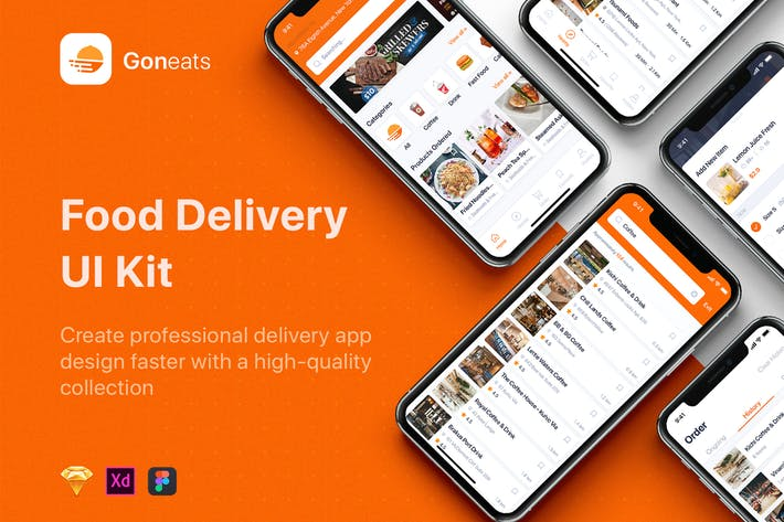 Thumbnail for GonEats - Food Delivery UI Kit