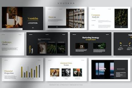 Vouskha - Professional Marketing Strategy PPT