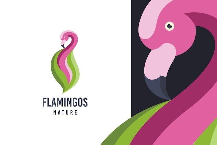 Thumbnail for Flamingo Leaf Logo Template
