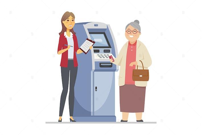 Thumbnail for Consultant helping senior woman - illustration