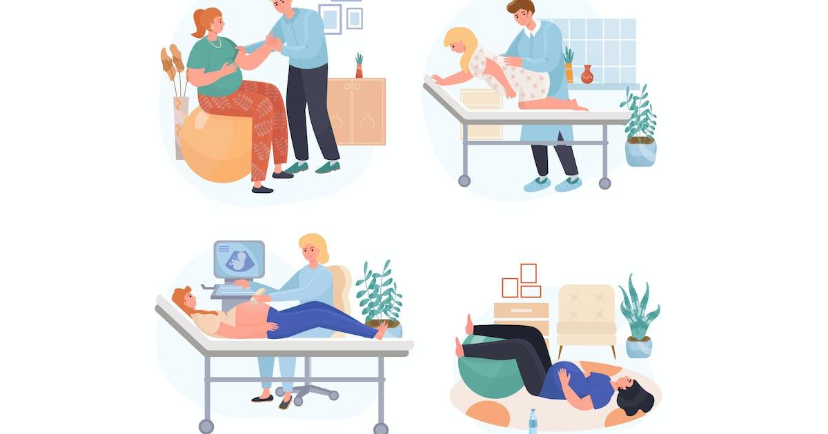Download Pregnancy Concept Scenes Set by DesignSells