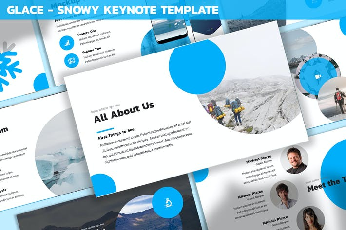 Thumbnail for Glace - Snowy Keynote Template
