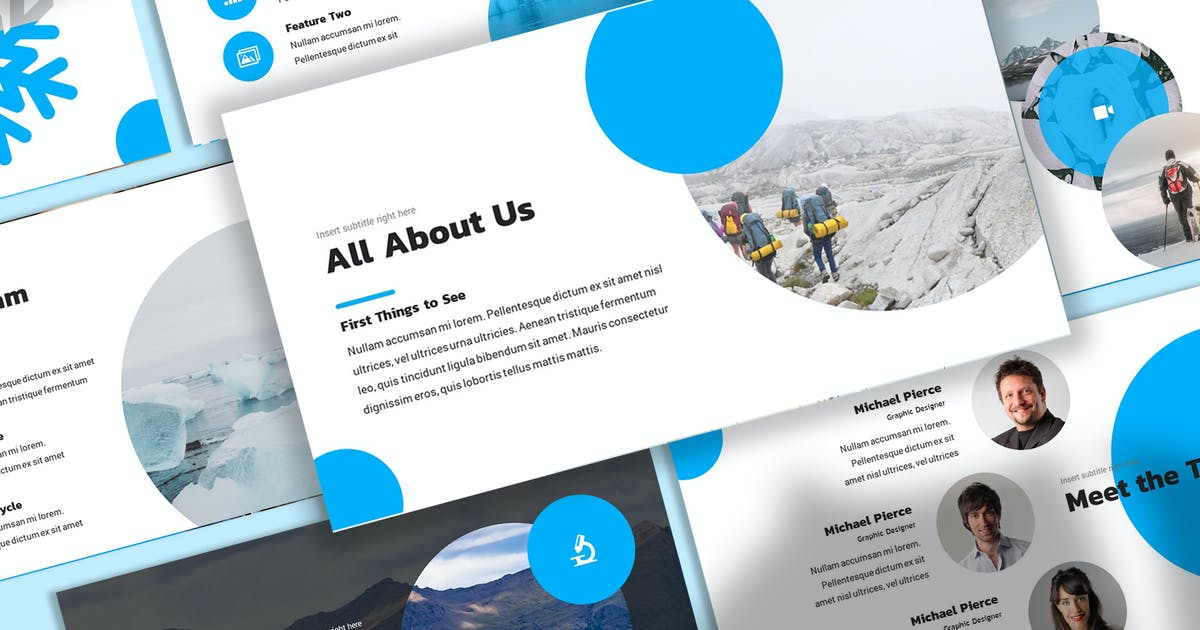 Download Glace - Snowy Keynote Template by SlideFactory