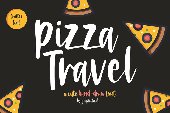 Thumbnail for Pizza Travel - Cute Brush Font