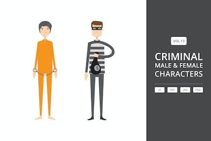Преступные - мужские и женские персонажи Vol.13