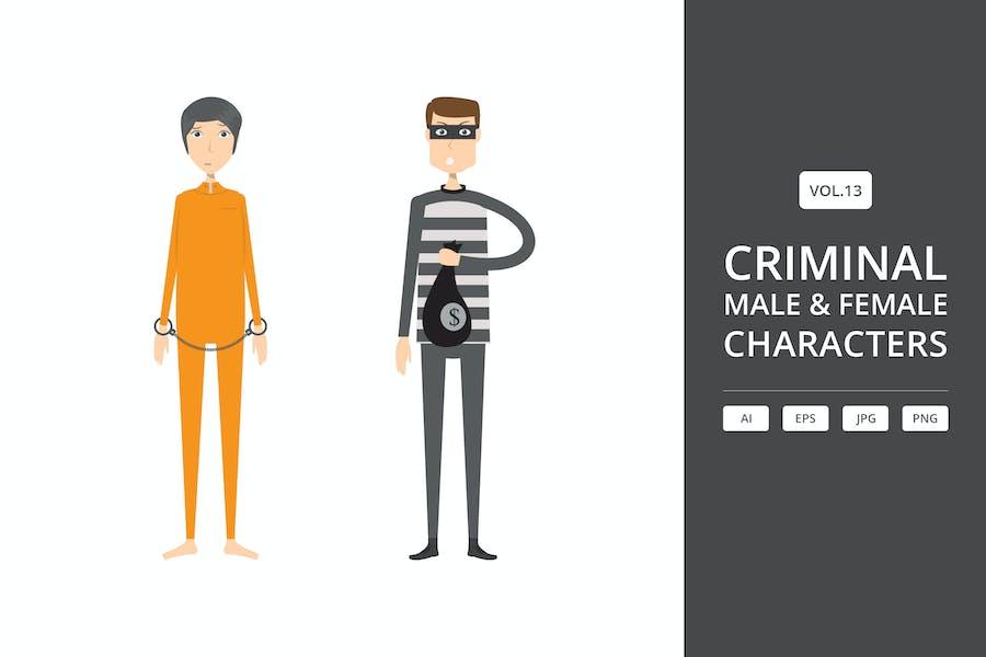 Criminal - Male & Female Characters Vol.13