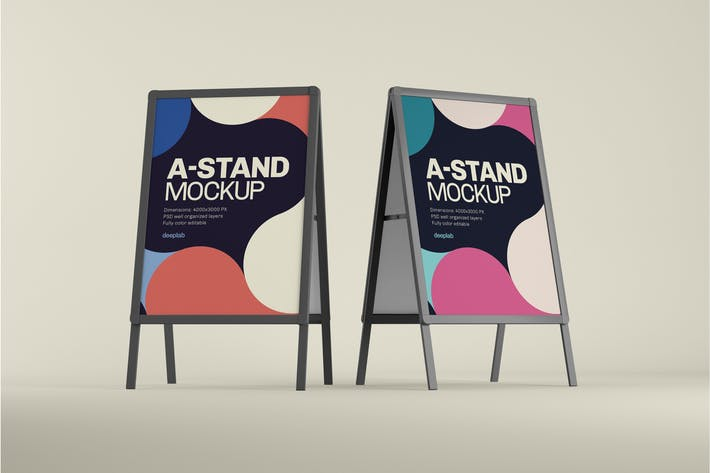 Thumbnail for A-Stand Mockup | Advertising Board
