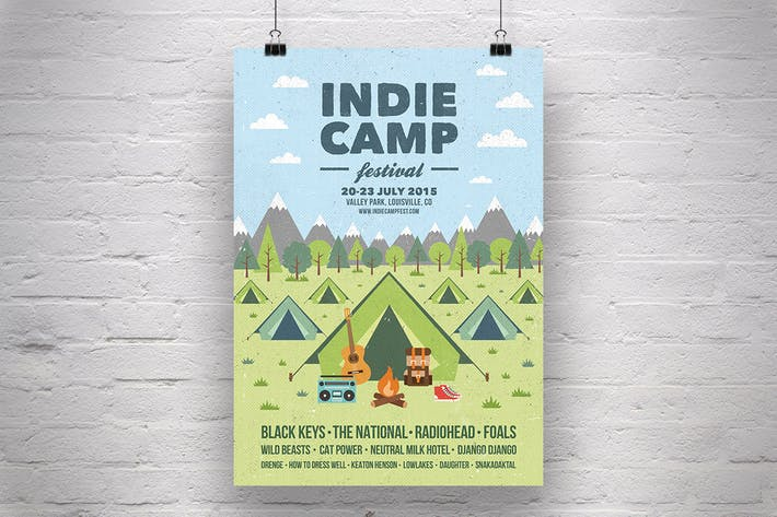 Thumbnail for Indie Camp Festival Flyer/Poster
