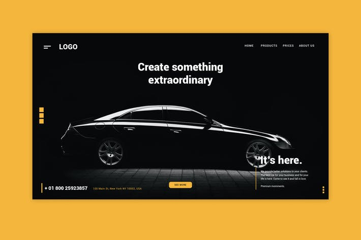 Thumbnail for Luxury Car - Landing Page