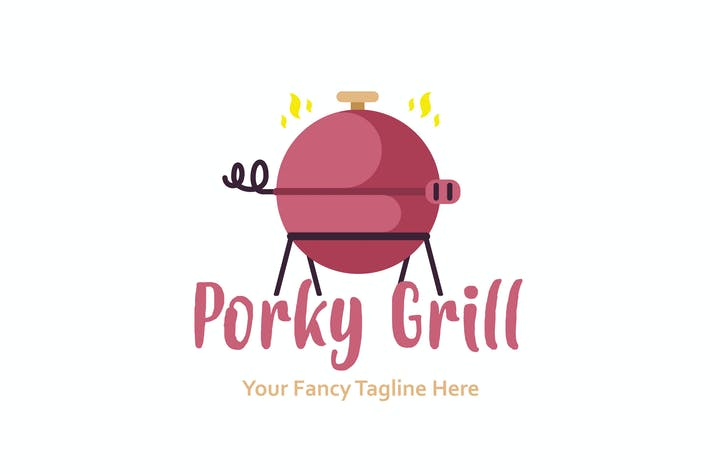 Thumbnail for Porky Grill Logo Template