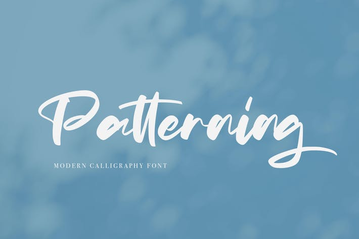 Thumbnail for Patterning | Modern Calligraphy Font