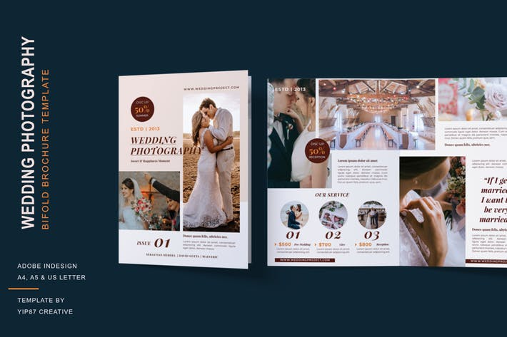 Thumbnail for Wedding Photography - Bifold Brochure