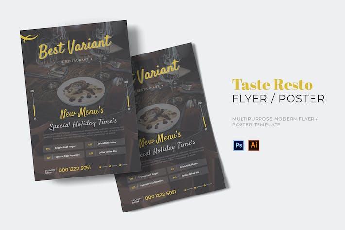 Thumbnail for Taste Resto Flyer