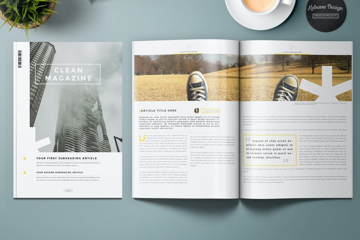 Cover Image For Clean Magazine Template