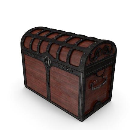 Baúl de madera bloqueado