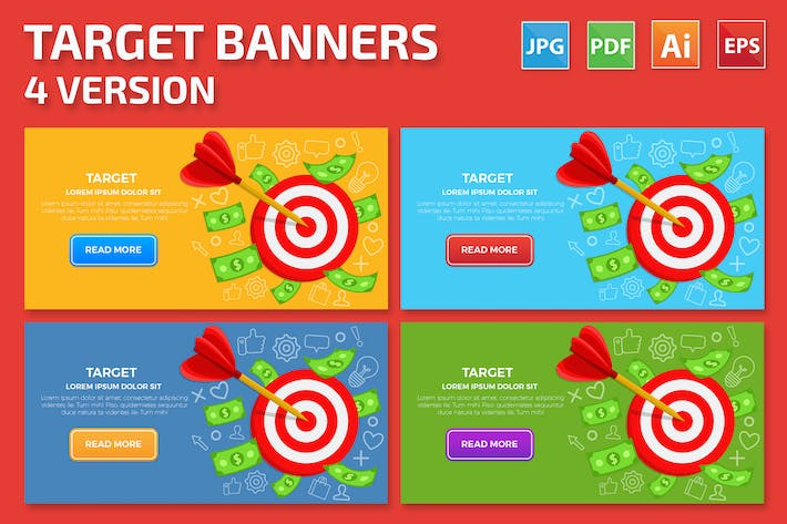 Thumbnail for Target Banners Design