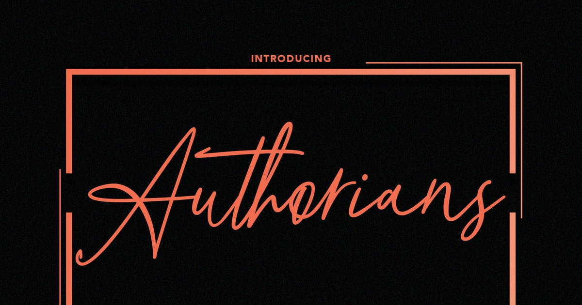Download Authorians Signature Font by maulanacreative