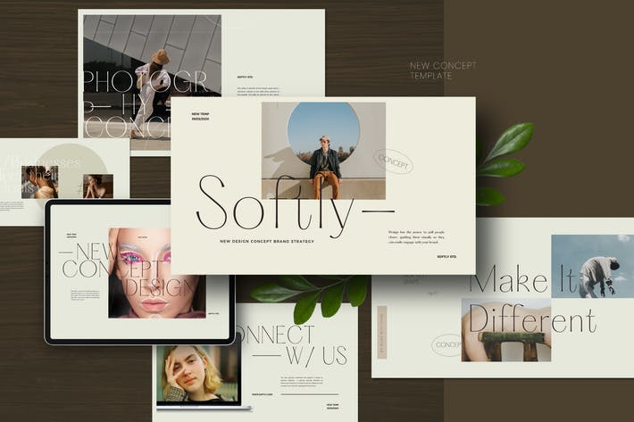 Thumbnail for Softly - Lookbook Style Design Keynote