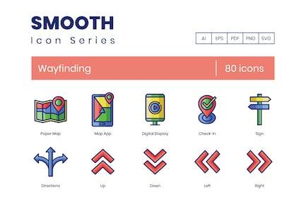80 Wayfinding Icons (AI, EPS, PDF, PNG, SVG)