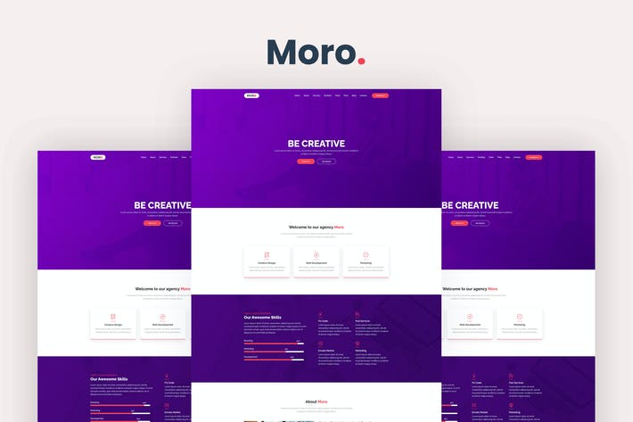 Thumbnail for Moro - One Page Parallax