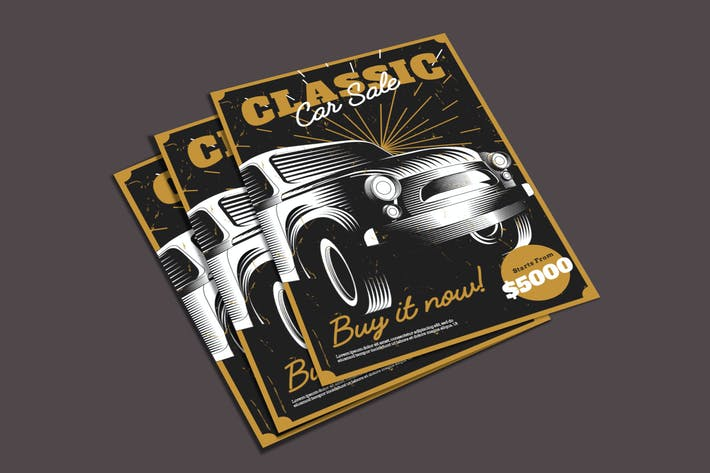 Cover Image For Old Car Flyer