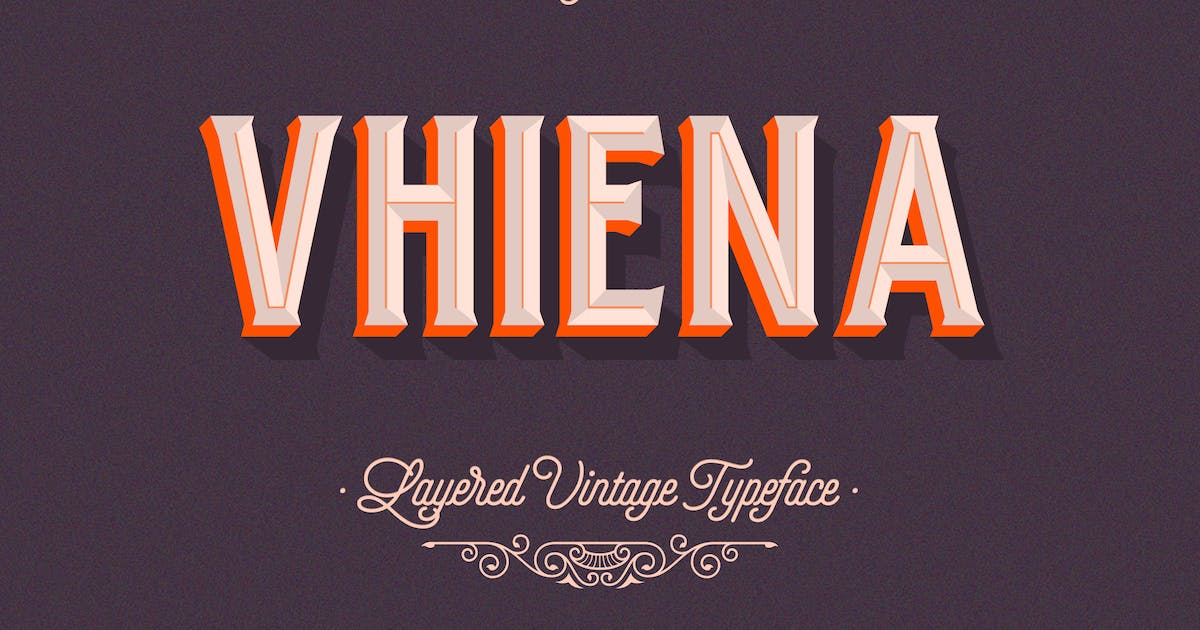 Download Vhiena Layered Type 2.0 by Lostvoltype