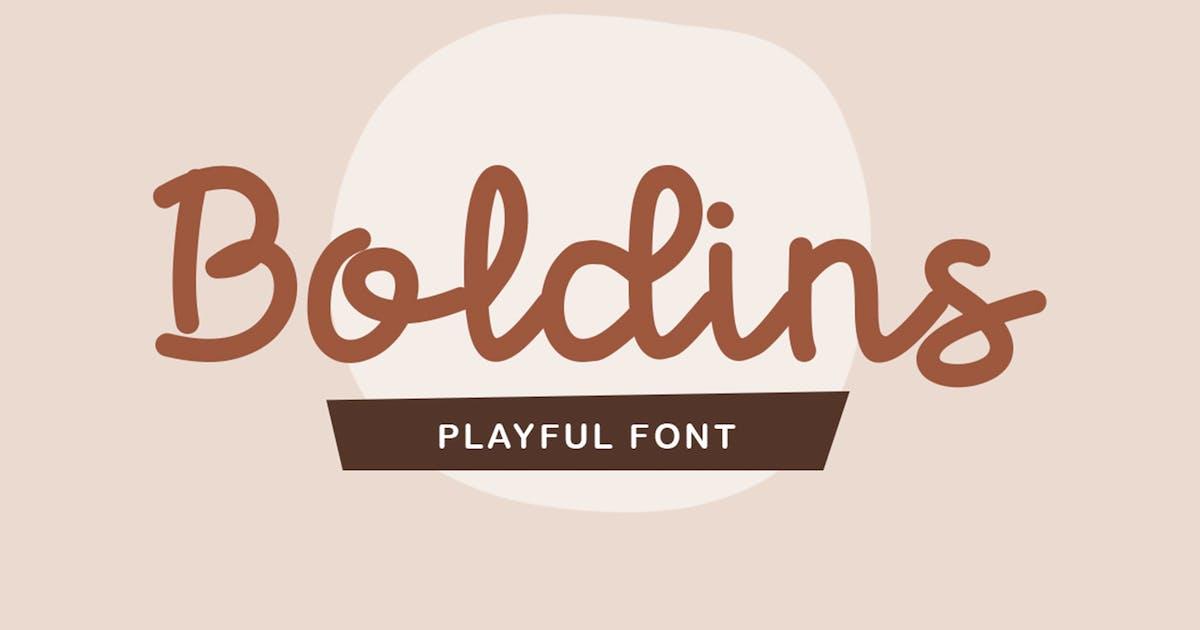 Download Boldins - Monoscript Font by garisman