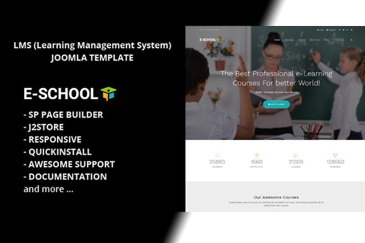 Thumbnail for E School - Learning and Courses Joomla Template