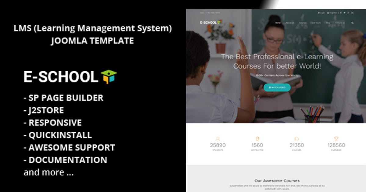 Download E School - Learning and Courses Joomla Template by codelayers