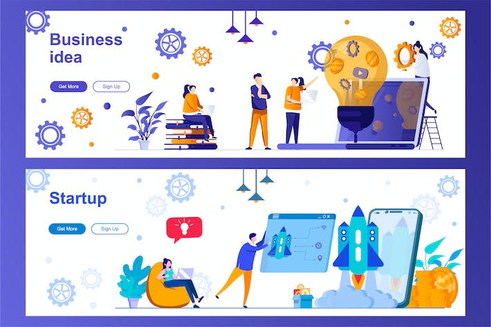 Thumbnail for Business Idea and Startup Web Banners