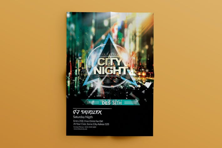 Thumbnail for DJ Guest City flyer Template